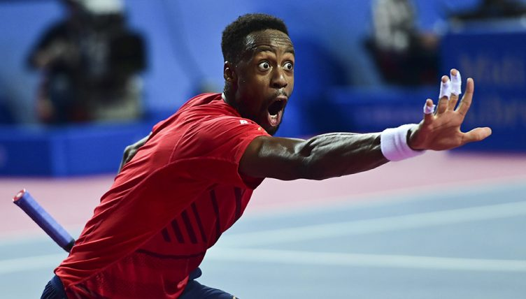 Gael Monfils celebrating