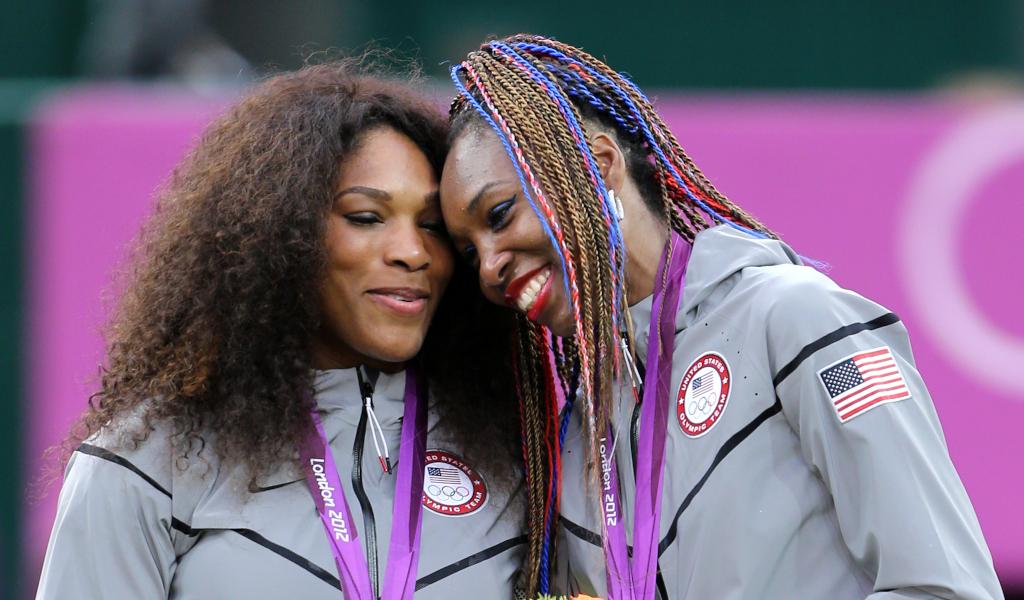 Serena Williams and Venus Williams at 2012 London Olympics