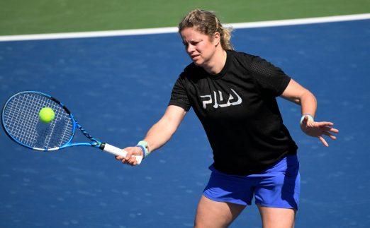 Kim Clijsters practice