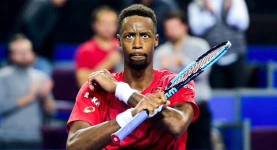Gael Monfils celebrations