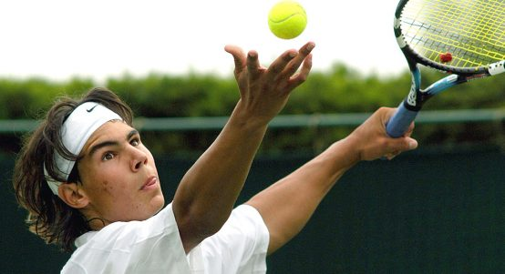 Rafael Nadal as a teenager