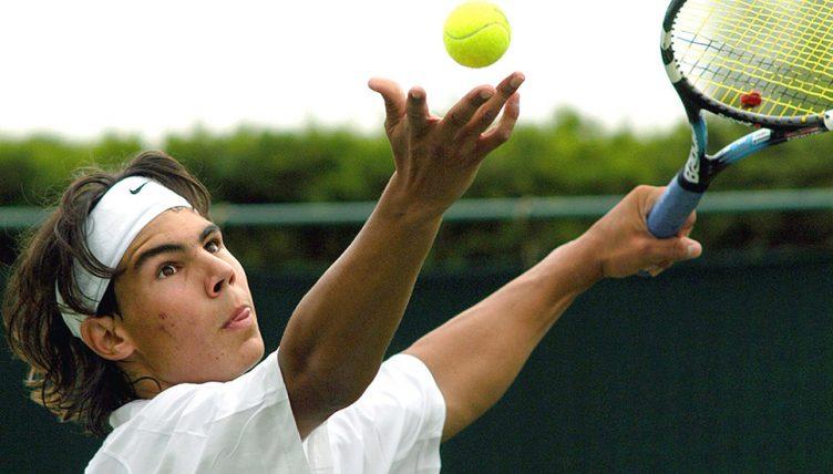 Rafael Nadal as a teenager