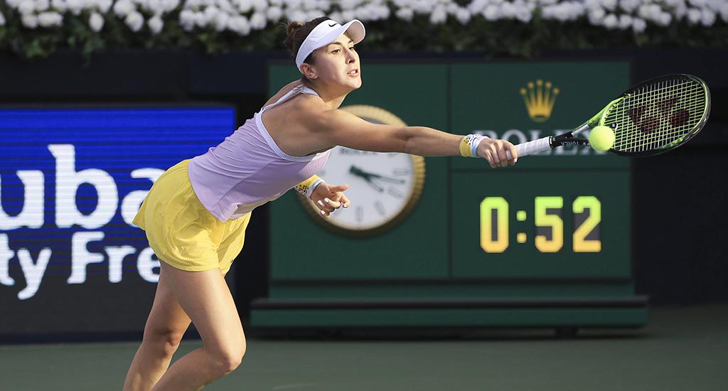Belinda Bencic at Dubai Duty Free Tennis Championships