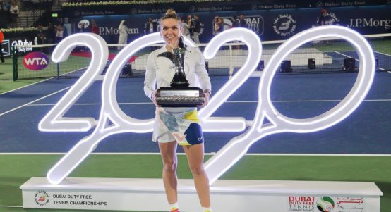 Simona Halep Dubai champion
