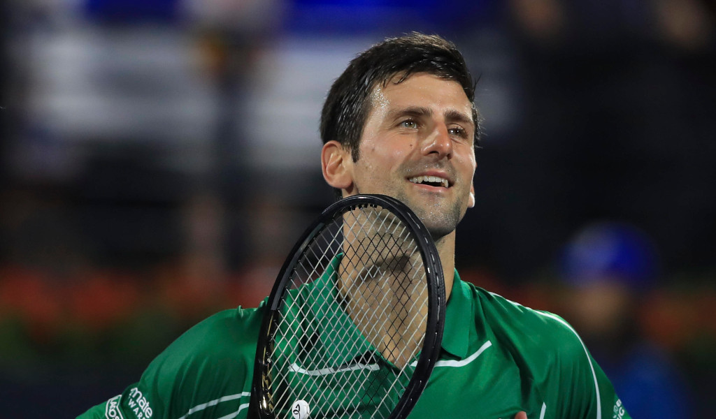 Novak Djokovic celebration