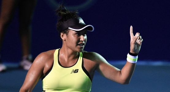 Heather Watson pointing