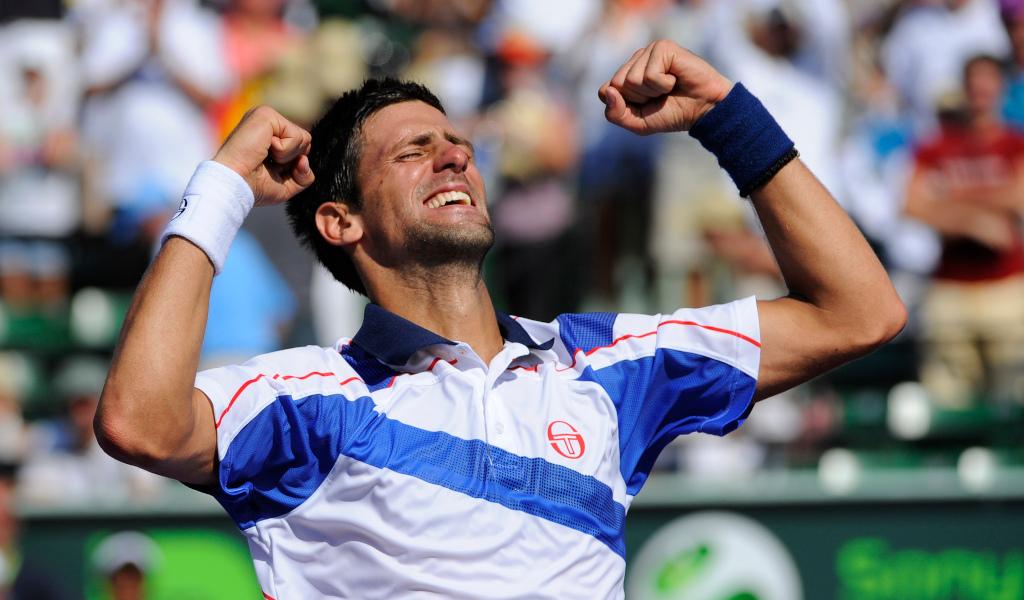 Novak Djokovic 2011 celebrations