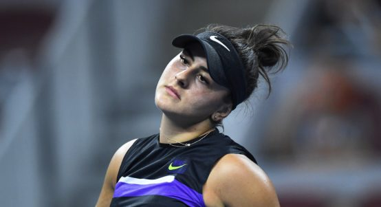 Bianca Andreescu disappointed