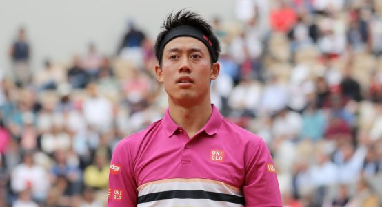 Kei Nishikori in action