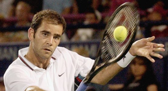 A Pete Sampras backhand
