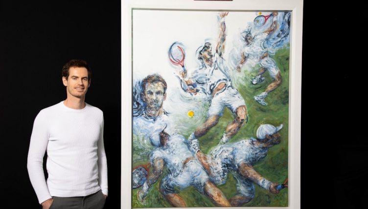 Andy Murray portrait by Maggi Hambling