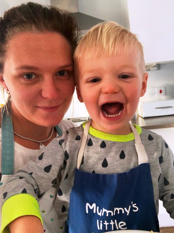 Wheelchair Grand Slam champion Jordanne Whiley and her son Jackson