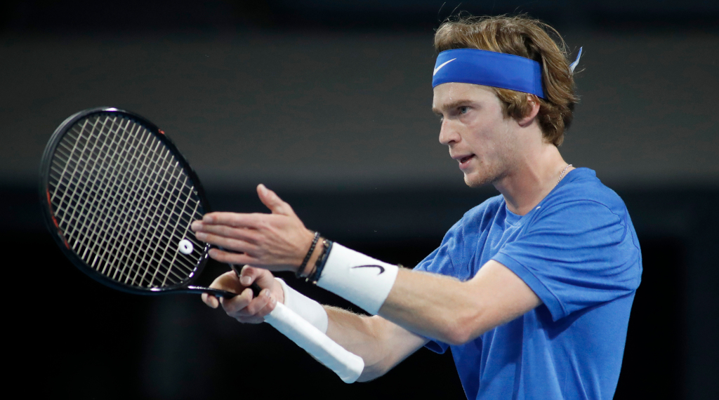 Andrey Rublev in action