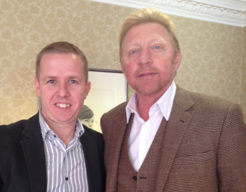 Kevin Palmer and Boris Becker