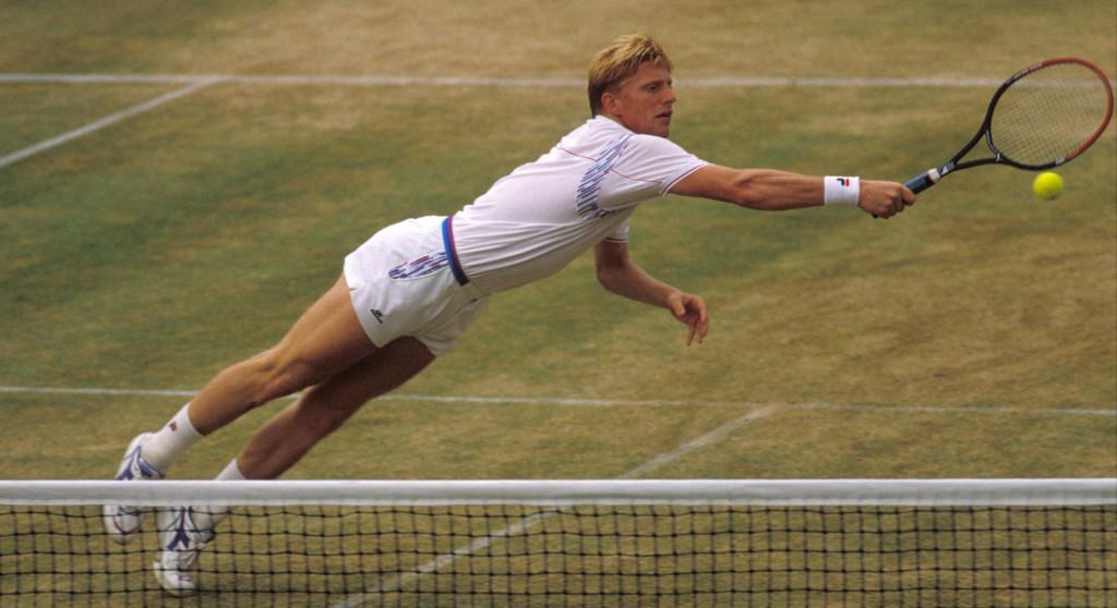 Boris Becker diving