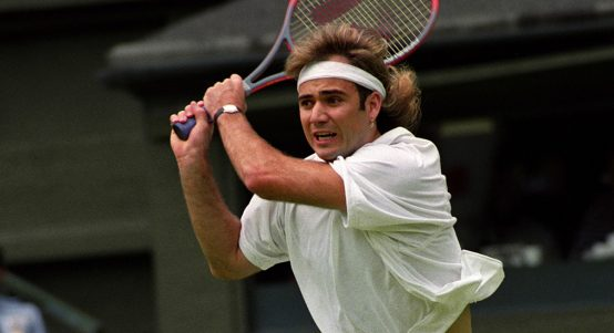 Andre Agassi backhand
