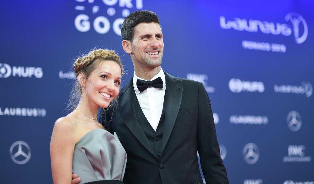 Jelena Djokovic and Novak Djokovic