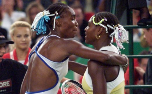 Venus Williams and Serena Williams hugging