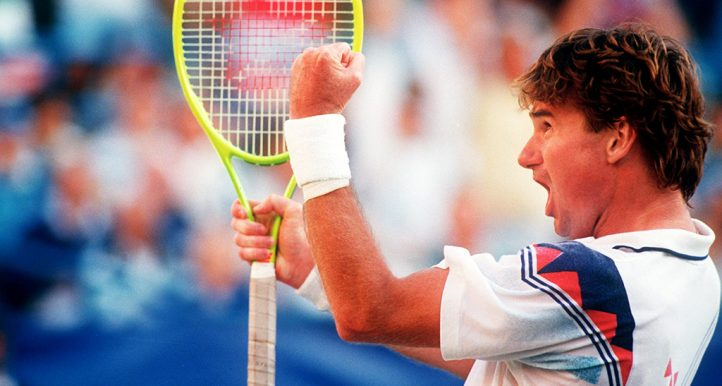 Jimmy Connors celebrates