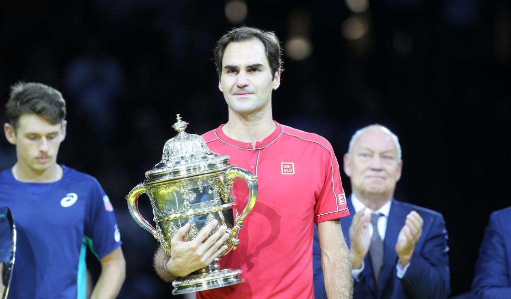 Roger Federer Swiss Indoors Basel trophy