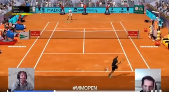 Andy Murray and David Goffin in Virtual Madrid Open final