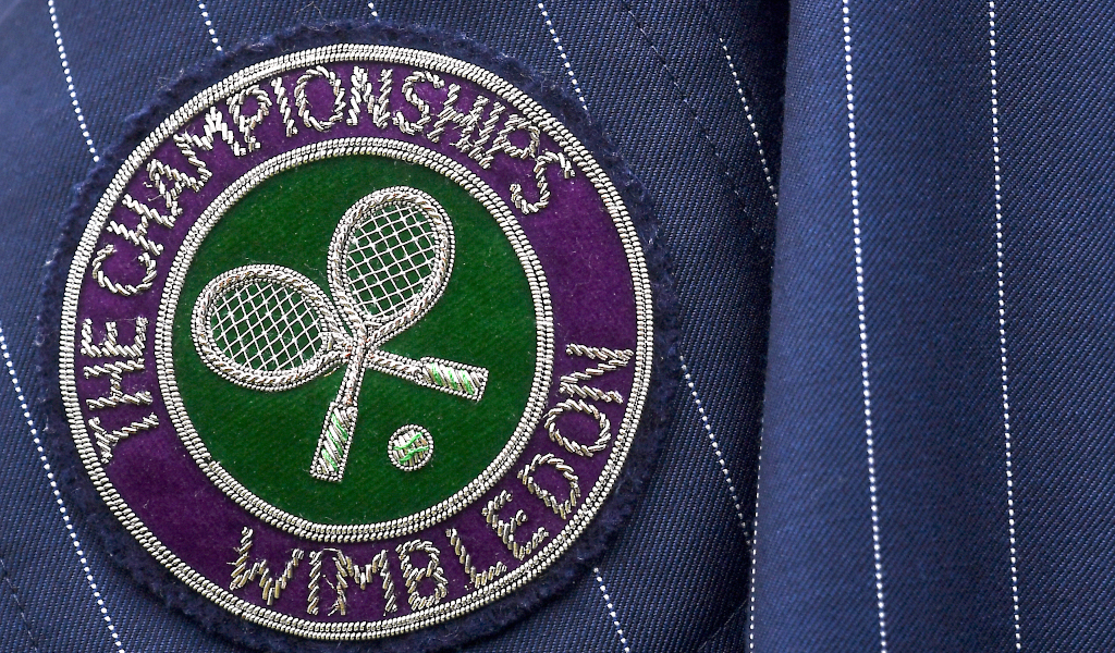 Wimbledon badge/logo/sign