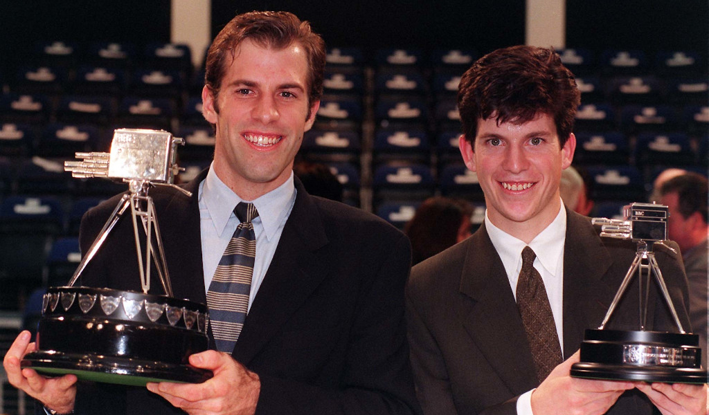 Greg Rusedski BBC Sports Personality of the Year 1997 with runner-up Tim Henman