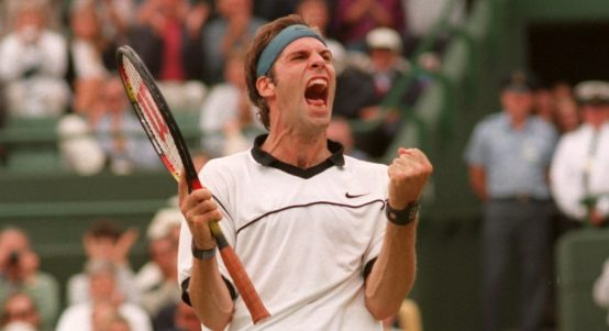 Greg Rusedski celebrating