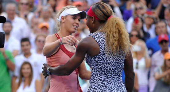 Caroline Wozniacki and Serena Williams