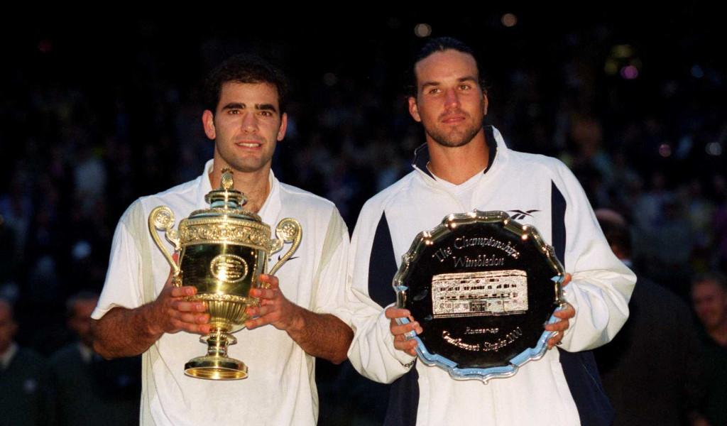 Pete Sampras and Pat Rafter at Wimbledon