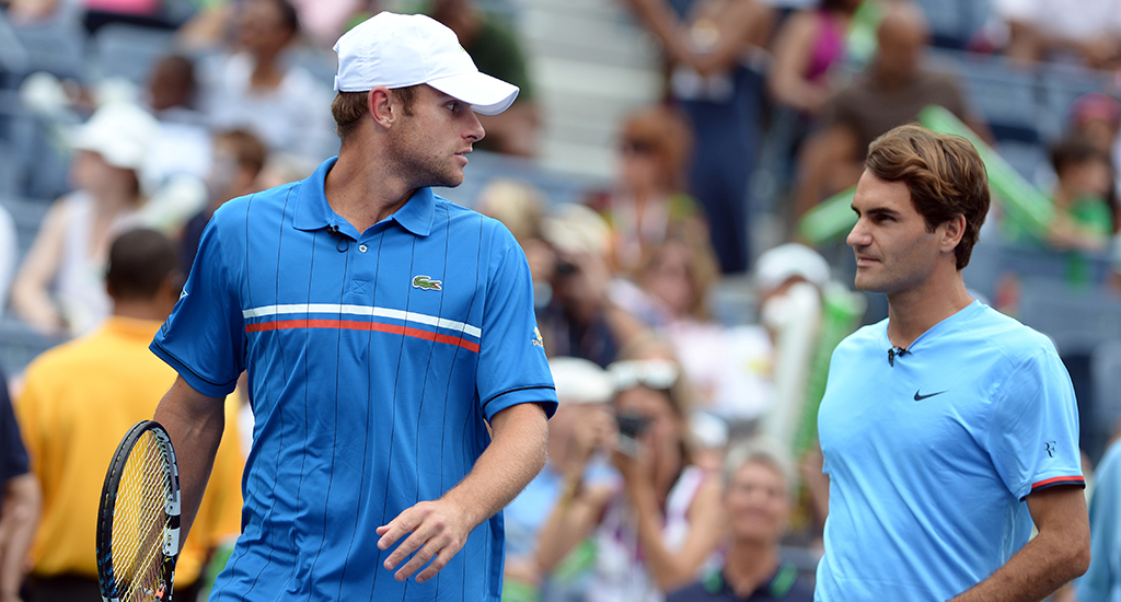 Roger Federer and Andy Roddick