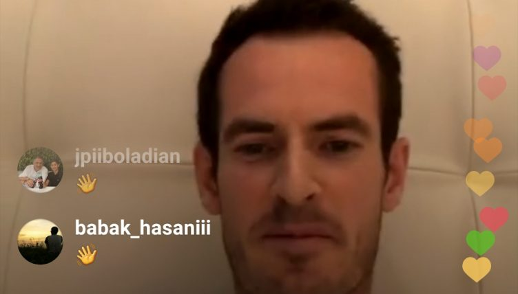 Rafael Nadal Instagram Live with Andy Murray