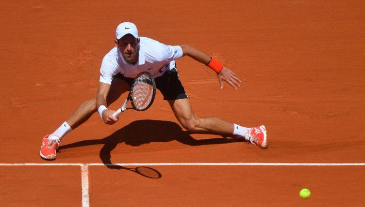 Novak Djokovic on clay