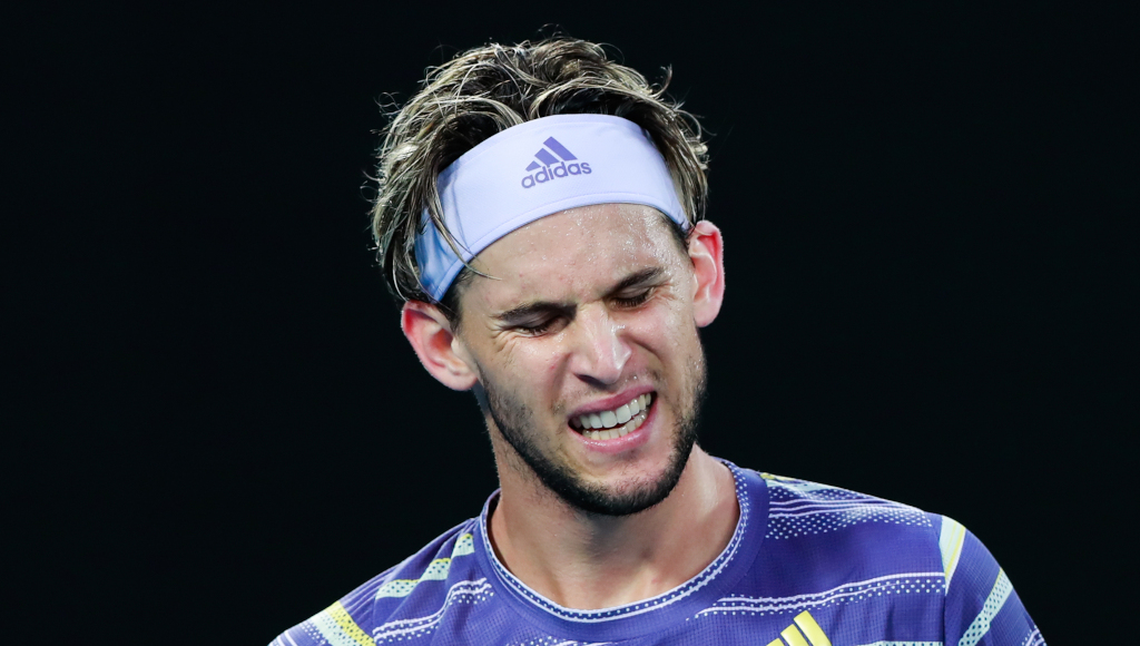 Dominic Thiem frustrated