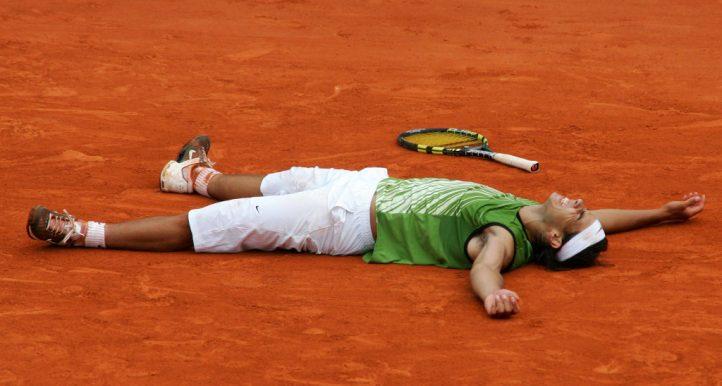 Rafael Nadal on clay