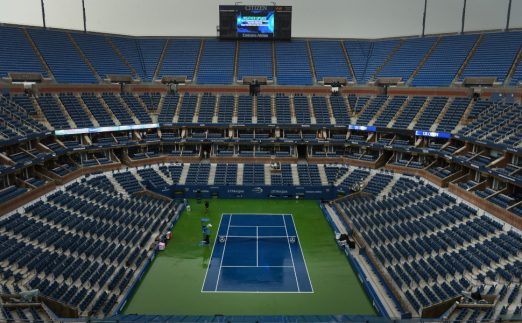 Empty Arthur Ashe Stadium at Flushing Meadows - US Open