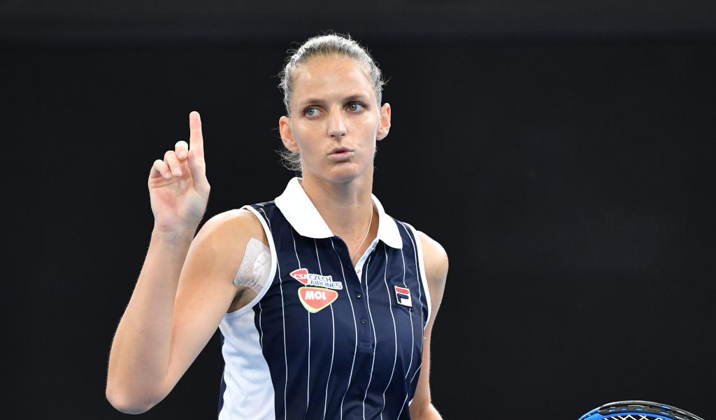 Karolina Pliskova in action