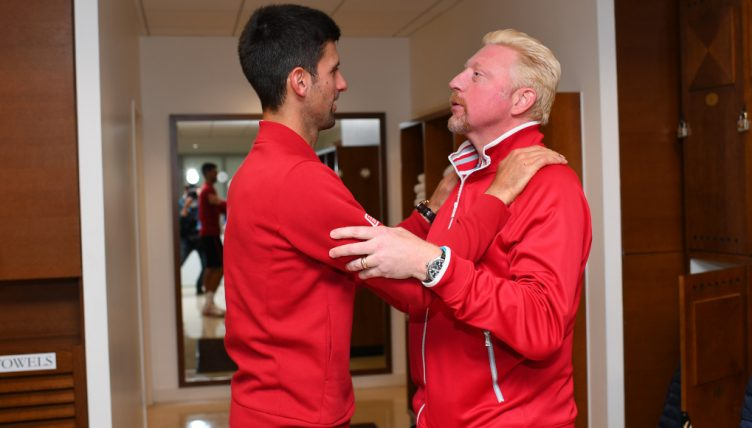 Novak Djokovic and Boris Becker