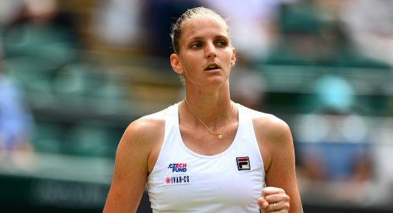Karolina Pliskova in action