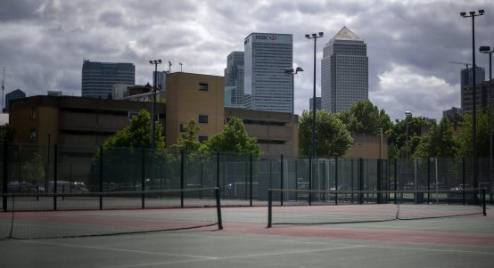 Tennis courts city