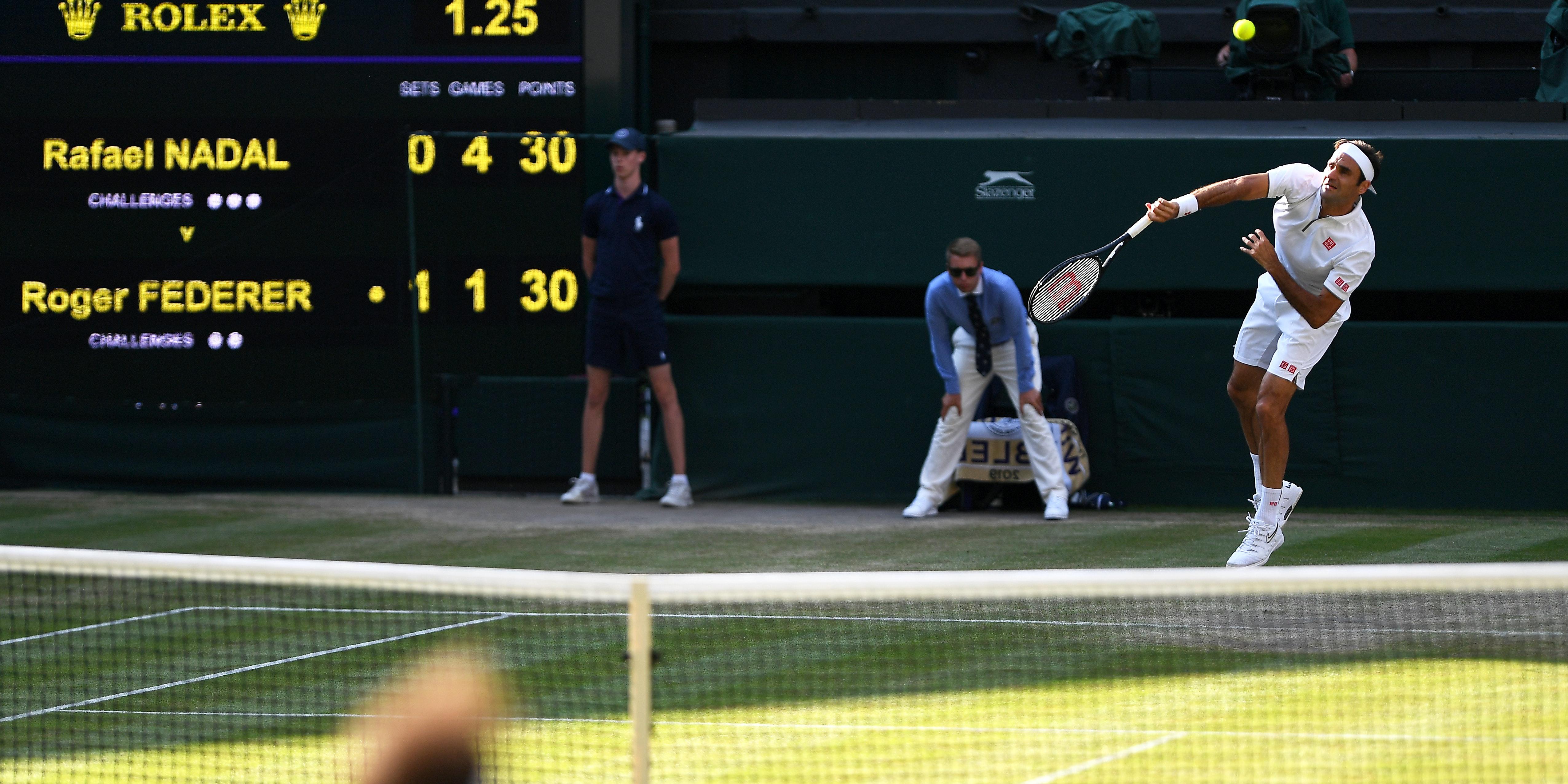 Wimbledon tennis action