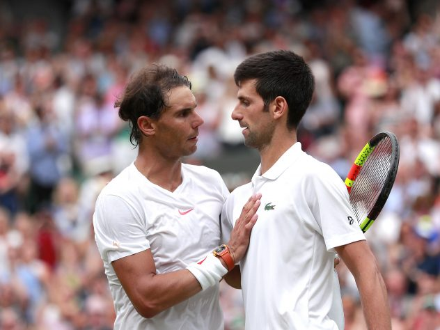 Rafael Nadal, left, and Novak Djokovic have both expressed doubts about playing at this year's US Open (Andrew Couldridge/PA)