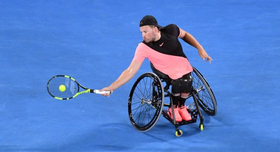 Dylan Alcott in action