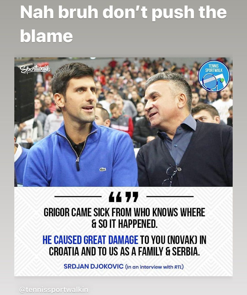 Nick Kyrgios Tells Novak Djokovic S Father Not To Push The Blame Onto Grigor Dimitrov Tennis365 Com