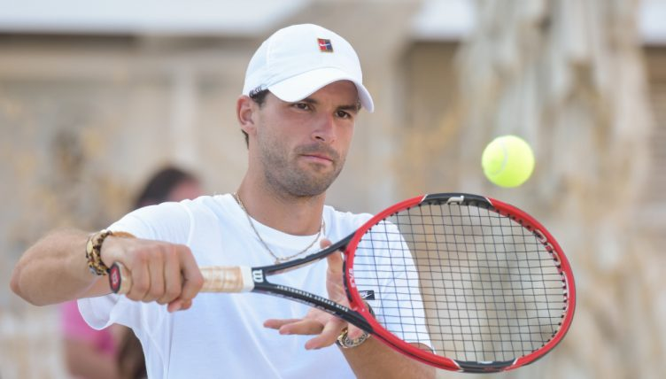 Grigor Dimitrov practising