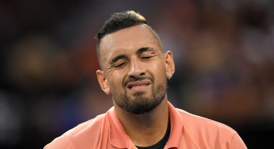 Nick Kyrgios irritated