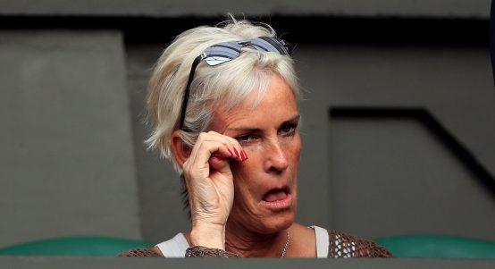 Judy Murray attends a match