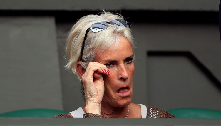 Judy Murray attends a match