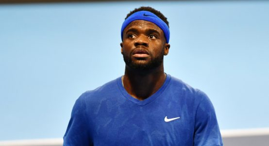 Frances Tiafoe in action