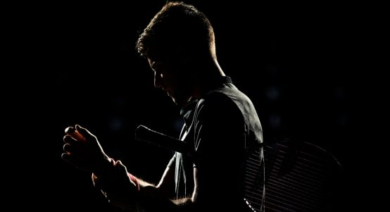 Dominic Thiem shadow